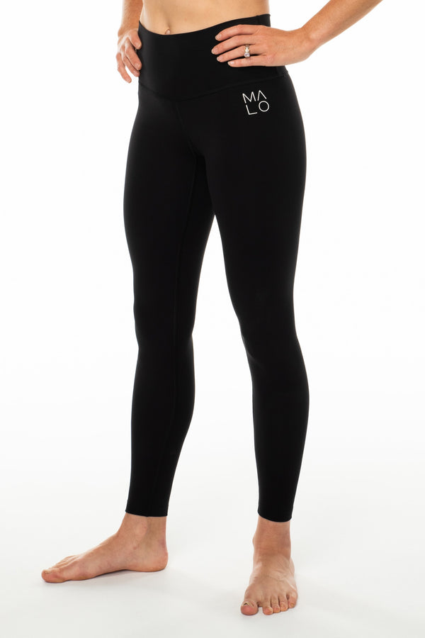 MALO hi rise luxe leggings - black