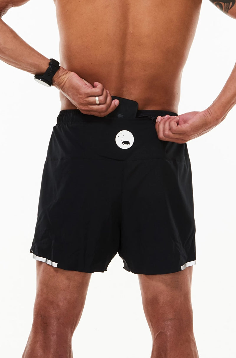 MALO noosa run short - black (mesh brief liner)