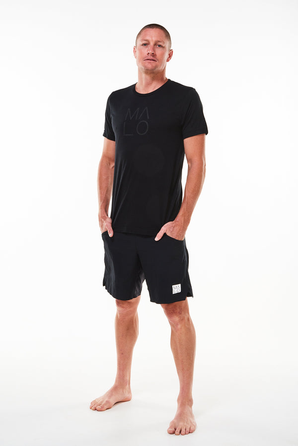 MALO stealth signature tee - coal/black