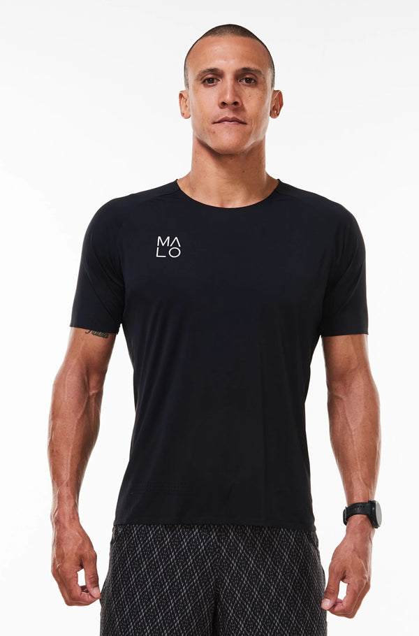 MALO edge performance tee - black