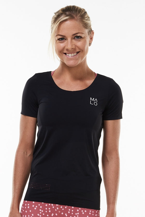 MALO women's edge performance tee- black