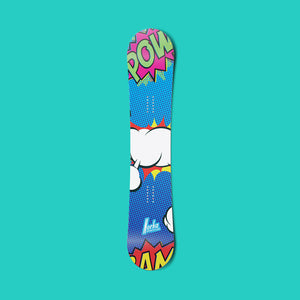 Fresh POW vinyl snowboard wrap - Norka Sports