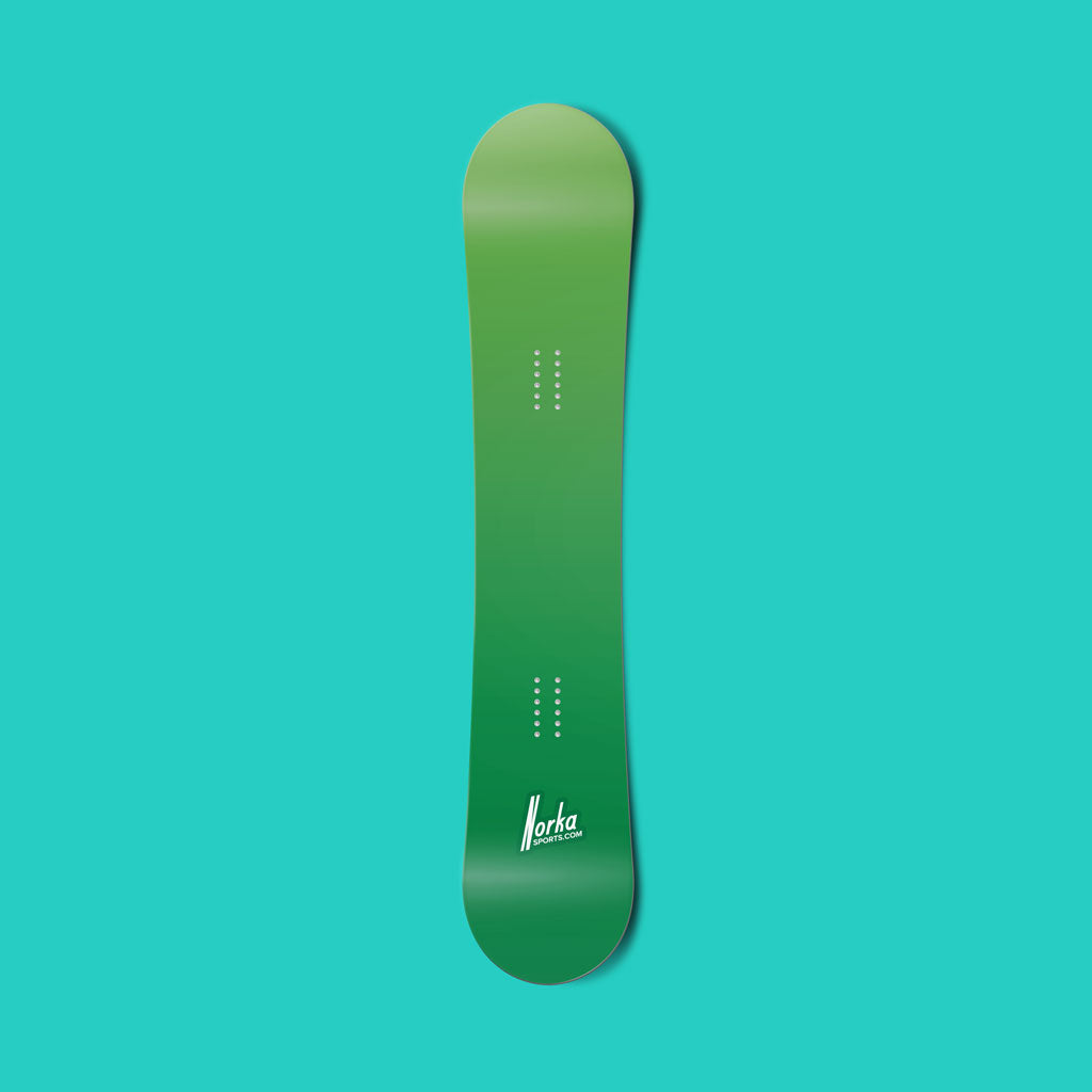 Green gradient vinyl snowboard wrap - Norka Sports