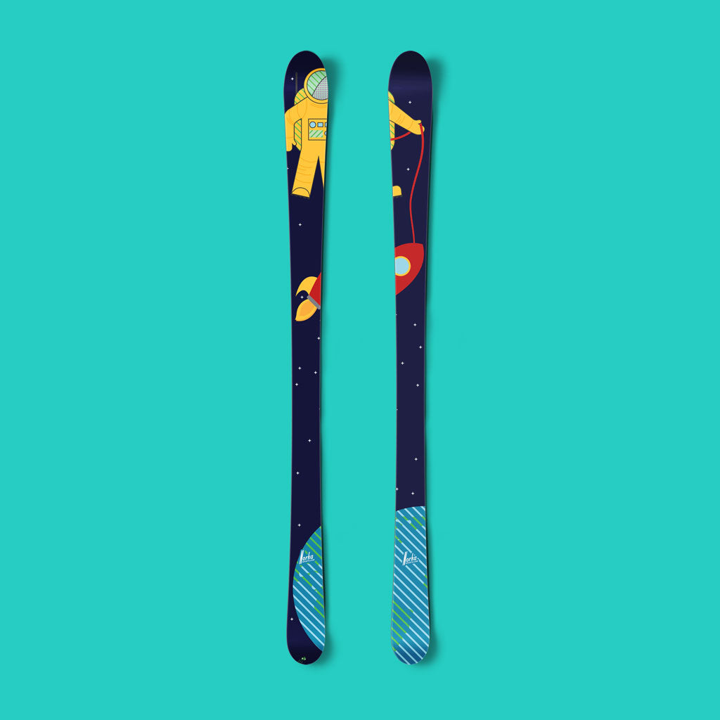 Spaceman vinyl ski wrap - Norka Sports