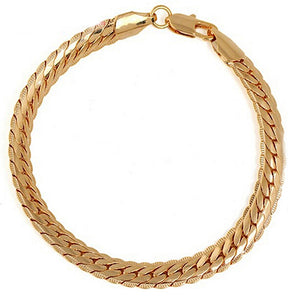 Women's Gold Plated Bracelets with Lobster Clasp Fashion Stylish Jewelry Charms