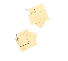 Load image into Gallery viewer, Modern Square Shaped Stud Earrings