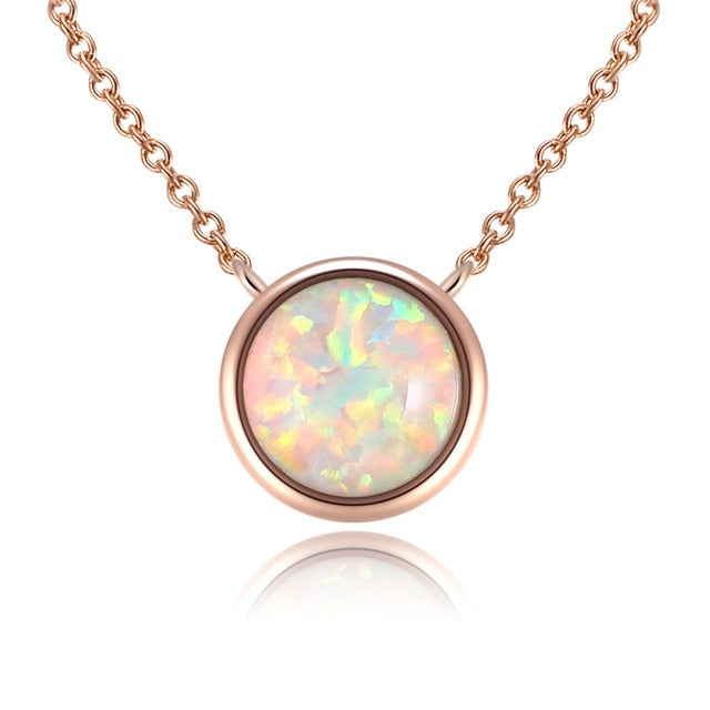 Shimmering Circle Pendent Necklace