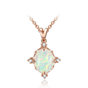 Shimmering Crystal Pendent Necklace
