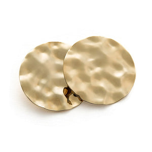 Hammered Coin Disc Earrings