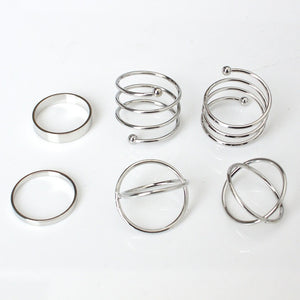 6pcs / Set of Cute Chic Rings