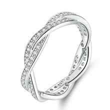 Load image into Gallery viewer, Silver Studded Twist Ring
