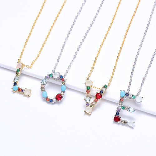 Multicolor Gold Charm Pendant Necklace