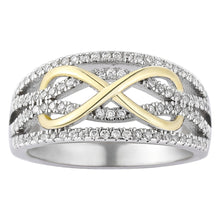 Load image into Gallery viewer, Infinity Silver and Gold Ring
