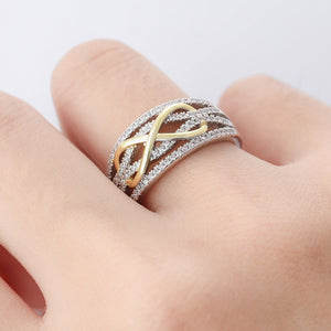 Infinity Silver and Gold Ring