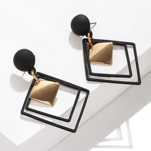 Geometric Colored Earrings