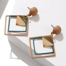 Load image into Gallery viewer, Geometric Colored Earrings