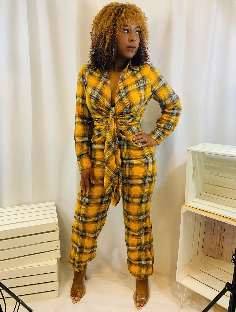 Perfect In Plaid | Jumpsuit