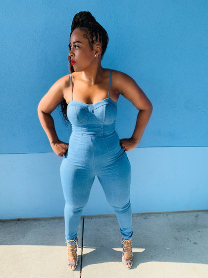 Denim Down | Jumpsuit
