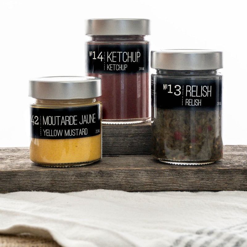 KIT Ketchup Relish Moutarde conserve La Conserverie KIT