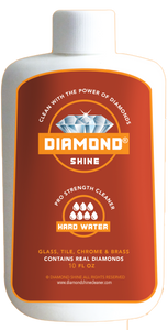 Diamond Shine Hard Water is a professional cleaner designed to clean all of your hard water stains. Great on glass windows, tile, chrome and brass.