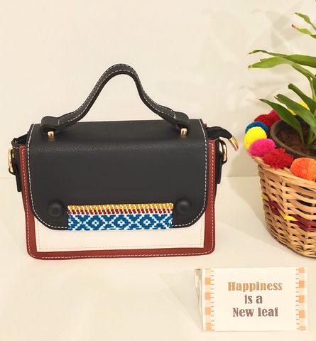 Colour Block Kutch Kari Mini Bag/Sling