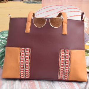 Contrast Coloured Tote Bag