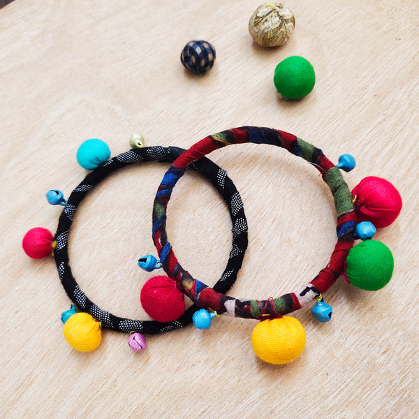 Textile Bangles - Set of Two