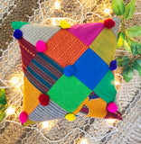 Rainbow Patch Cushion Cover