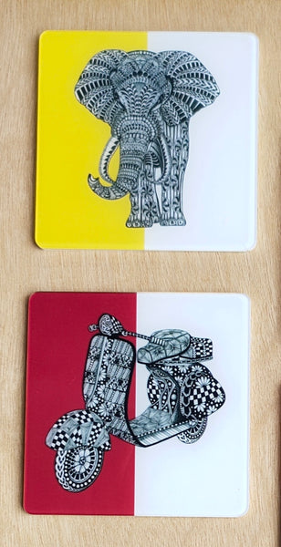 Quirky Coasters - Pack of Two