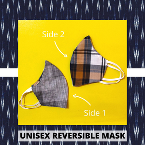 Fabric Reversible Masks- Set of 2