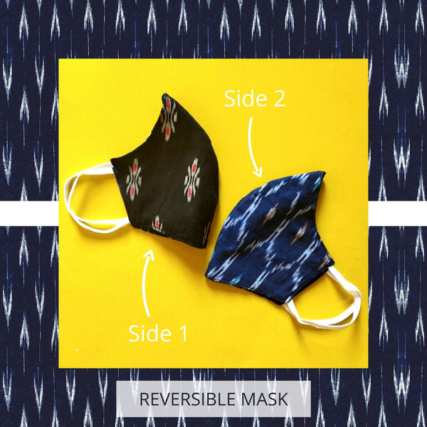 SET OF 2 FABRIC MASKS- 2 Reversible Fabric Masks
