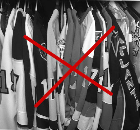 jerseys in the closet
