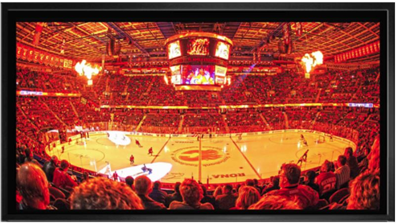 Calgary Flames - C of Red - Framed Canvas - Scotiabank Saddledome