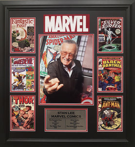 Stan Lee Comic Book Covers Collage