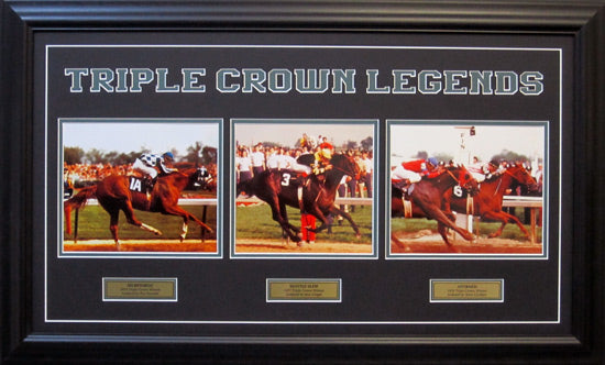 Triple Crown Legends - Custom Framed