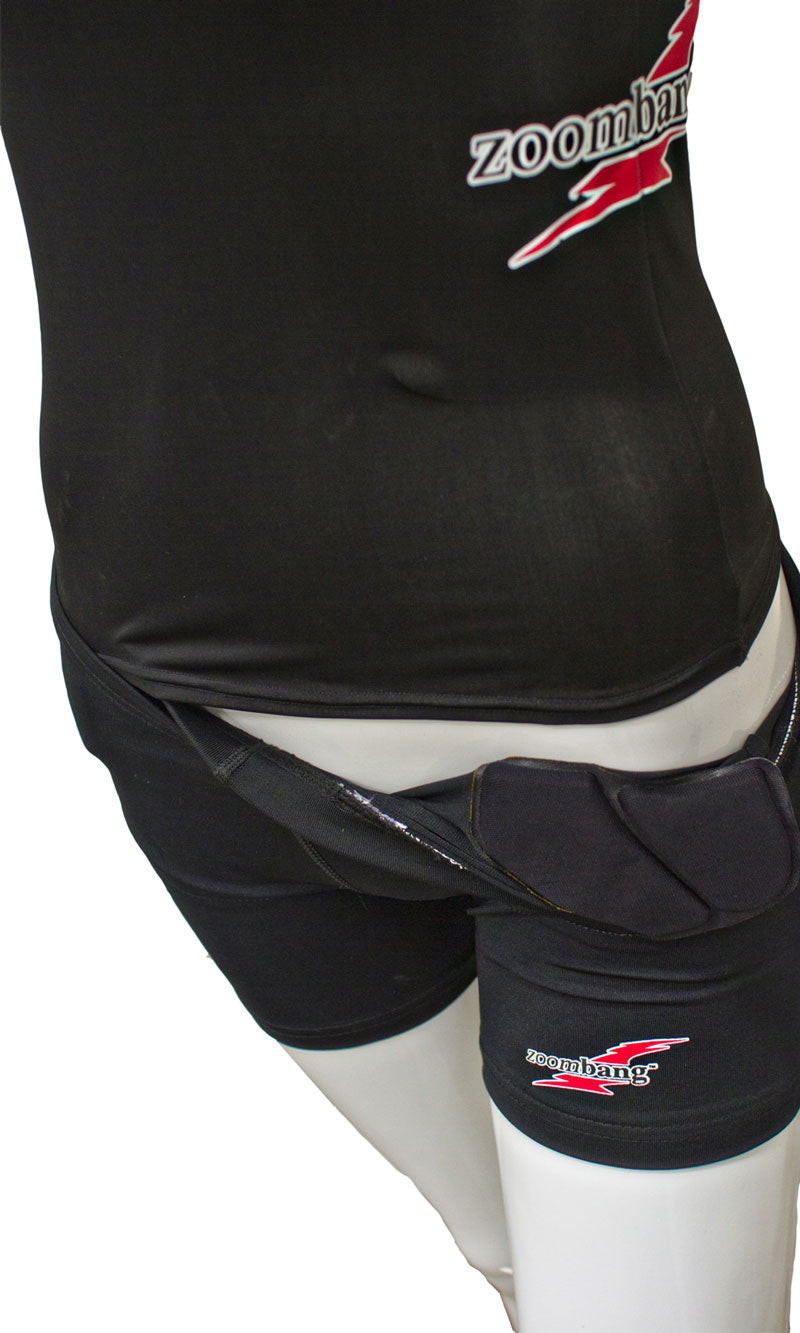 ZOOMBANG - Female volleyball compression shorts w/ pelvic pad