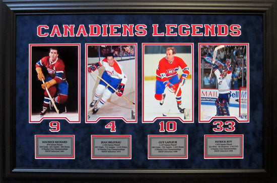 Montreal Canadiens Legends - Framed 8x10 photo collage