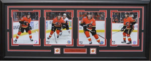 "CALGARY FLAMES 4 photo collage - 16"" x 42"" Oversized custom framed."