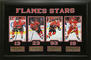 Calgary Flames current stars custom framed collage