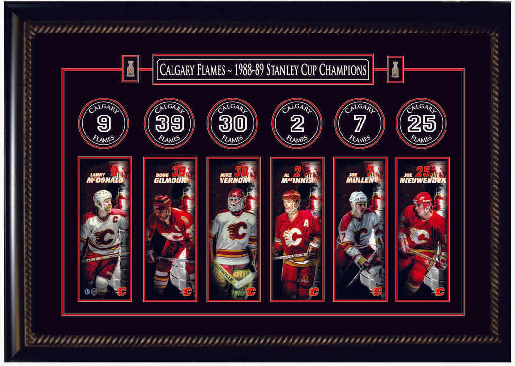 Calgary Flames - custom framed banner collage
