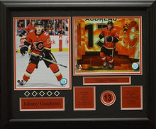 "Load image into Gallery viewer, Various Calgary Flames stars 8"" x 10"" photos - Custom framed"
