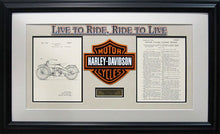 Load image into Gallery viewer, Harley Davidson Patent - Custom Framed