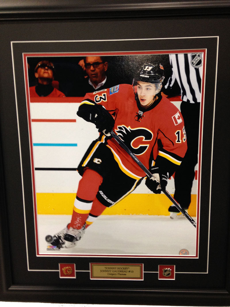 Johnny Gaudreau 16 x 20 photo - Custom framed