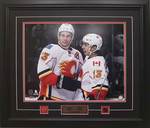 Sean Monahan & Johnny Gaudreau 16 X 20 photo - Custom framed