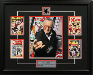 Stan Lee Autographed Web Slinger Comic Book Covers Collage