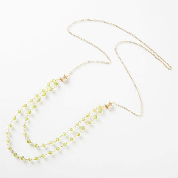 Amber Necklace - Peridot