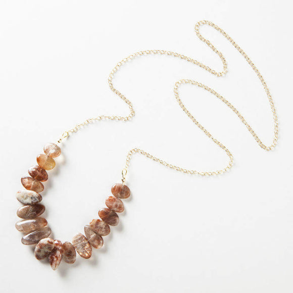 Allison Necklace - Sunstone