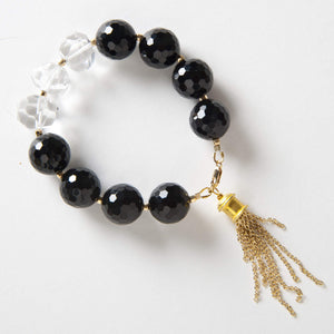 Autumn Bracelet - Black Onyx & Rock Quartz