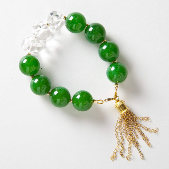 Autumn Bracelet - Green Onyx & Rock Quartz