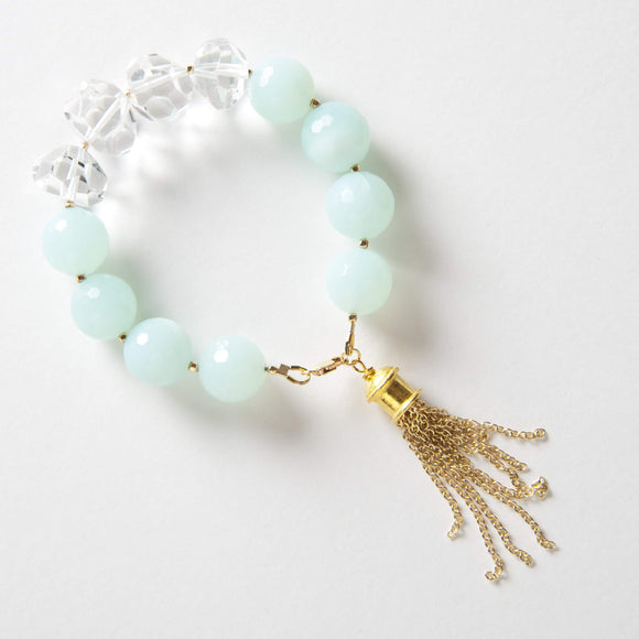 Autumn Bracelet - Aqua Quartz & Rock Quartz